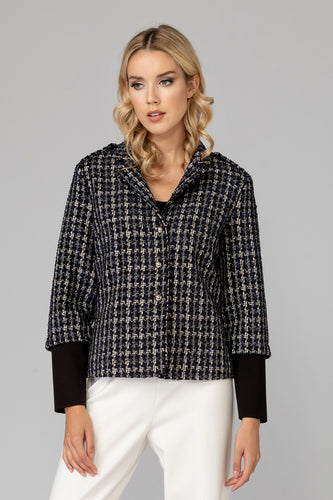 Plaid Knit Jacket