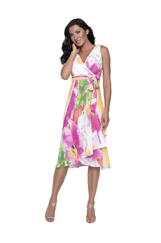 Beachy Luau Multicolor Tie Dress
