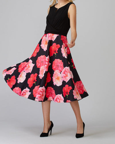 Sleeveless Floral Garden Swing Dress