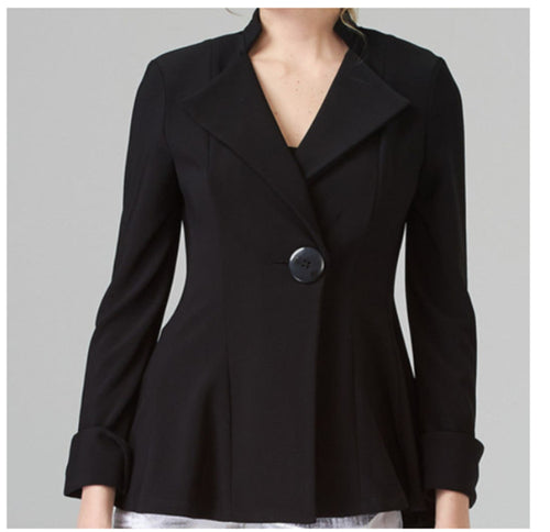 Fitted Waist Single Button Pea Coat