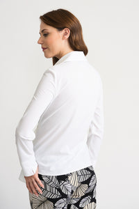 Unconventional Tie Waist White Button Blouse
