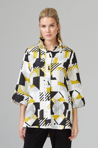 Geometric Patterned Modern Art Jacket