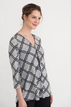 Load image into Gallery viewer, Black & Grey Square Geometric Tunic