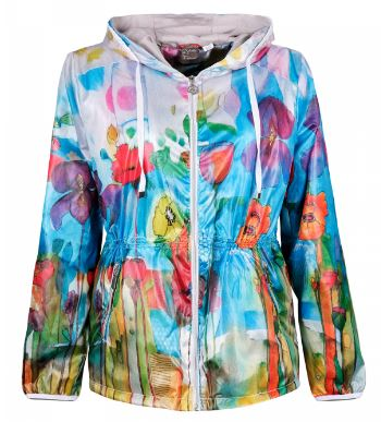 Abstract Pattern Lightweight Zipper Jacket