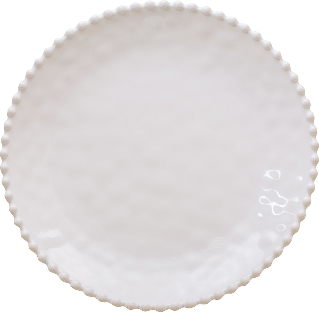 Beaded Pearl Dinner Plate