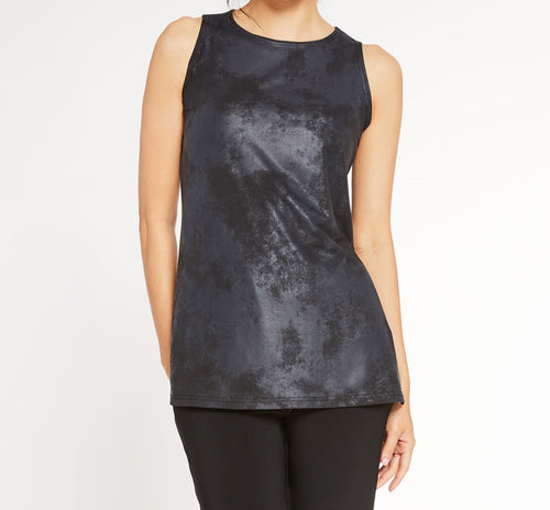 Sleeveless Nu Ideal Tunic- Pewter Foil