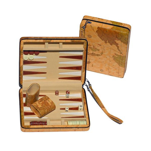 Tan Map Style Travel Backgammon