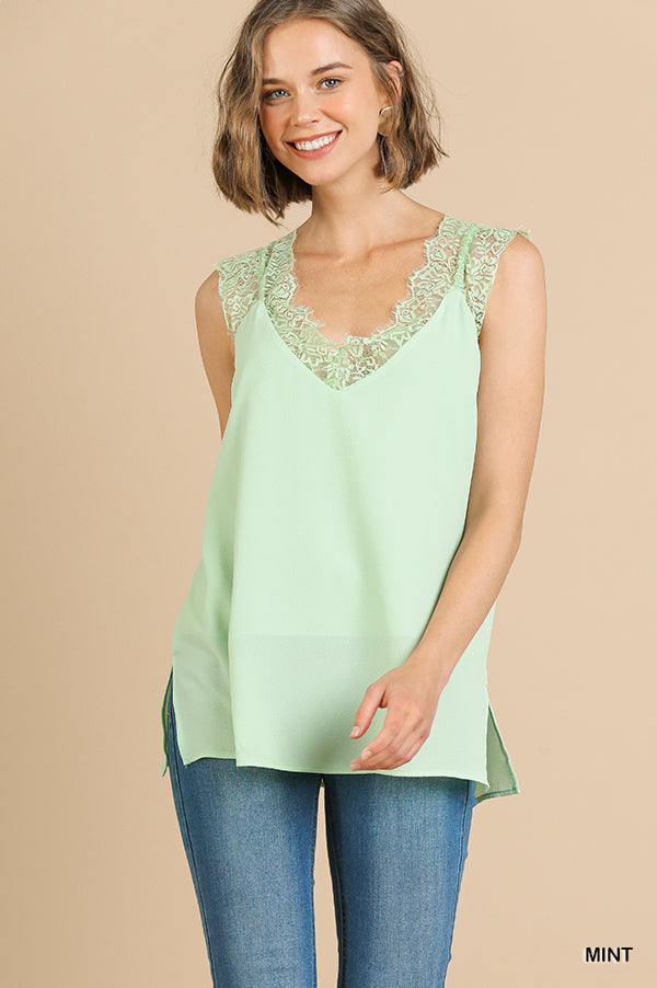 Green Mint Lace Cami