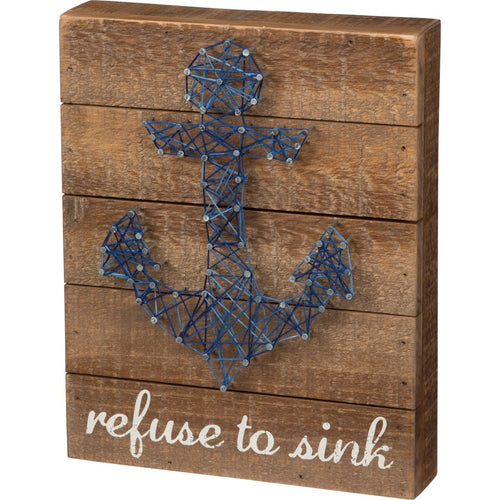 Refuse To Sink String Art