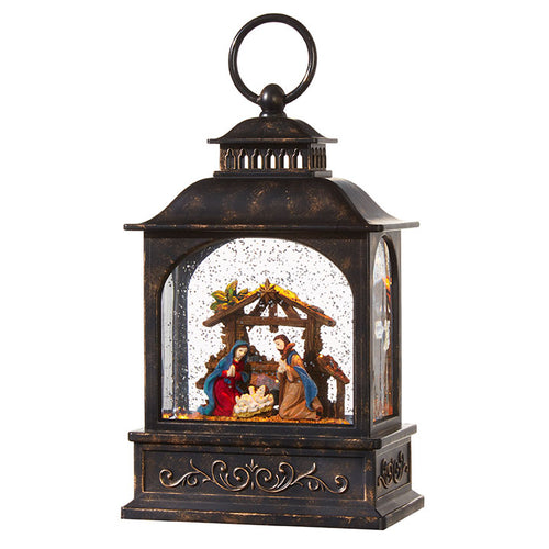 Rustic Nativity Lighted Water Lantern