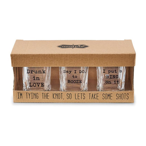 Wedding Party Shot Glass Set