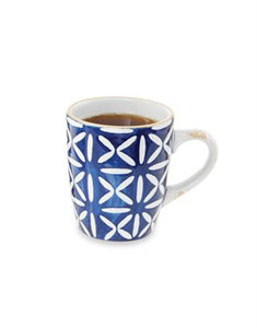 Cross Blue Stoneware Mug