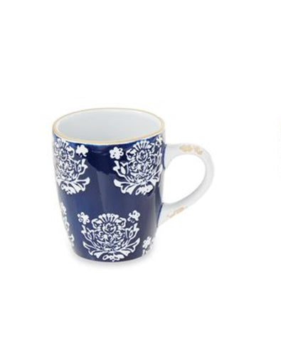 Flower Blue Stoneware Mug