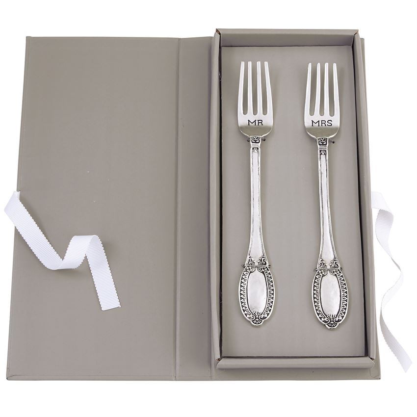 Mr & Mrs Wedding Fork Set