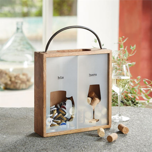Mr & Mrs Bottle Cap & Cork Display Box