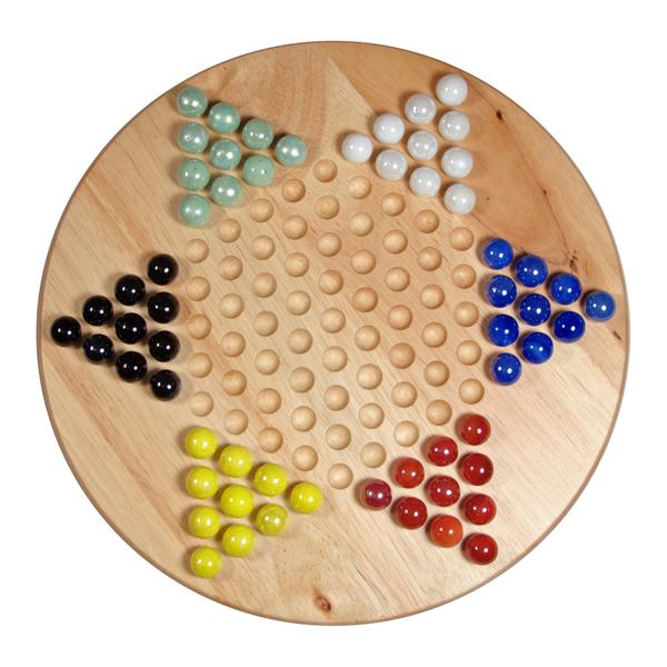 Chinese Checkers With Glass Marbles