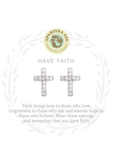 Sea La Vie Faith Stud Earrings