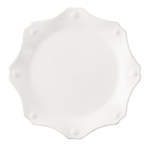 Berry & Thread Whitewash Scalloped Dessert/Salad Plate