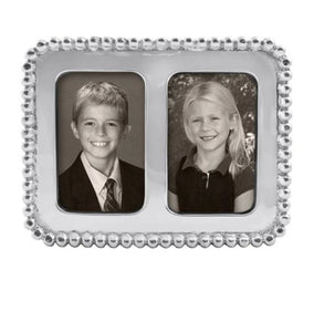 Beaded 2x3 Double Frame