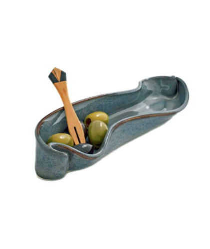 Olive Dish With Fork