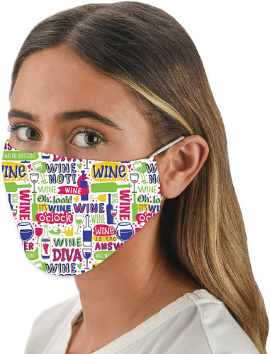 Wine Lover Face Mask