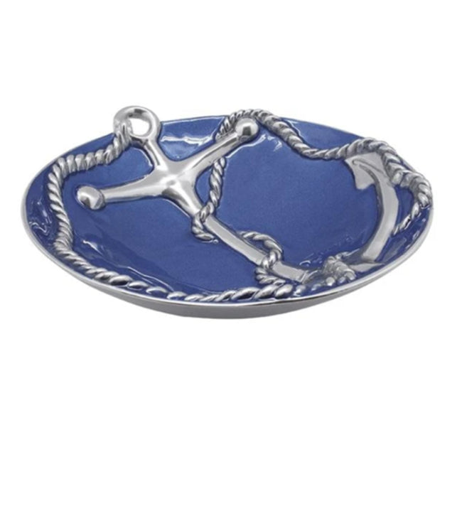 Large Anchor Bowl Blue