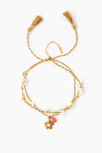 Anklet 18k Shell and Gold Mix
