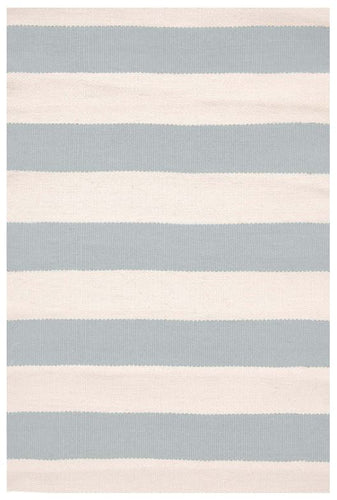 Catamaran Stripe Light Blue/Ivory Indoor/Outdoor Rug (Various Sizes)