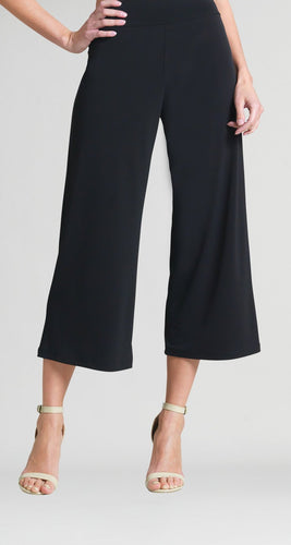 Solid Knit Gaucho Pants