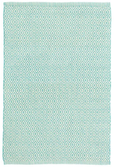 Crystal Aqua/Ivory Indoor/Outdoor Rug (Various Sizes)