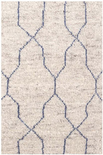 Massena Blue Hand Knotted Wool Rug (Various Sizes)