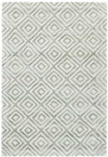 Cut Diamond Tufted Wool/Viscose Rug (Various Colors & Sizes)