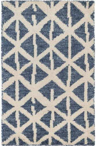 Newport Blue Hand Knotted Wool Rug (Various Sizes)