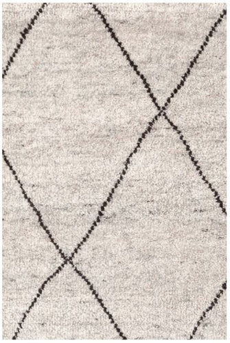 Numa Charcoal Hand Knotted Wool Rug (Various Sizes)