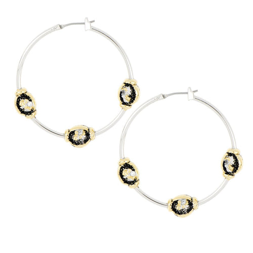 Carvão Lava Large Hoop Earrings
