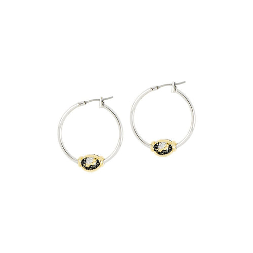 Carvão Lava Small Hoop Earrings
