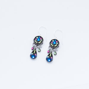 2-Tier Leaf Earring - Bermuda Blue