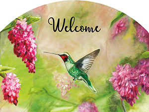 Hummingbird Pink Plaque-Small