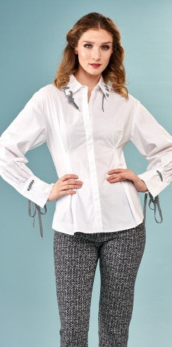 Cotton Shoelace Blouse