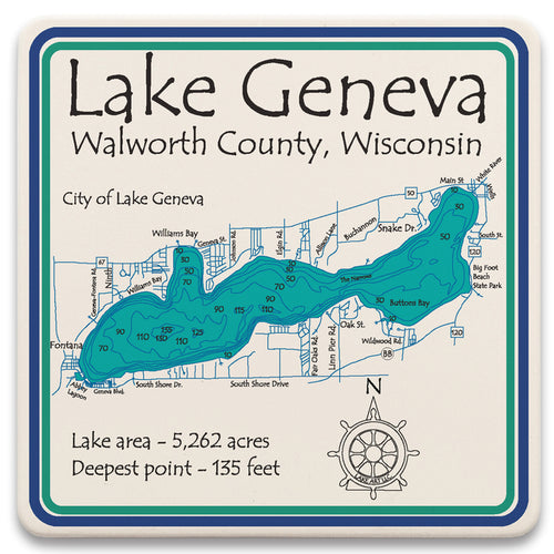 Lake Geneva Coaster Set
