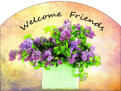 Lilac Bucket Plaque-Large