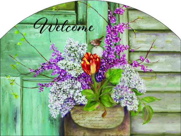 Lilac Pouch Plaque-Large