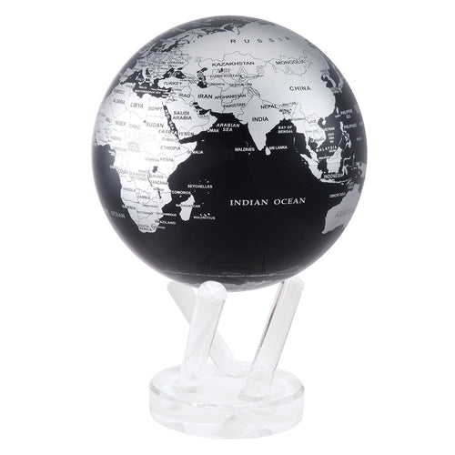 Black And Silver Rotating Globe