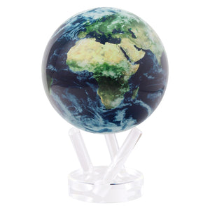 Earth With Clouds Rotating Globe