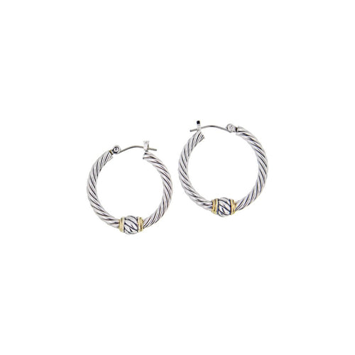 Oval Small Twisted Wire Hoop Earrings