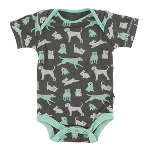 Short Sleeve One Piece - Stone Animals