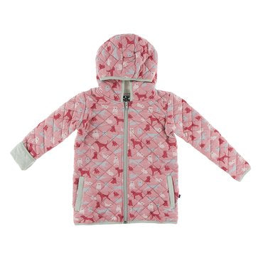 Quilted Jacket - Aloe & Strawberry Animals