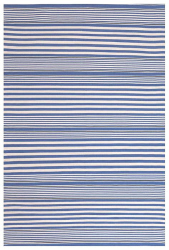 Rugby Stripe Denim Indoor/Outdoor Rug (Various Sizes)