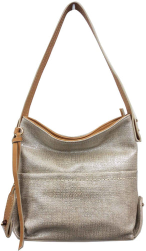 Washed Metallic Hobo Purse