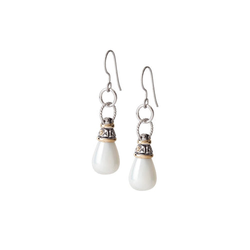 Seashell Pearl Fish Hook Earrings